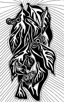 Leaves 2 Print by Sarah Loft