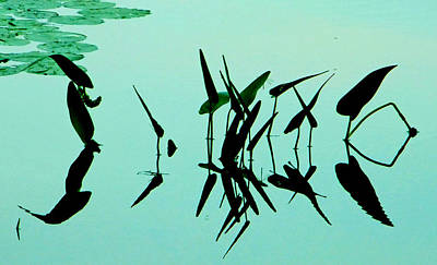 Leaves And Dragonflies 2 Art Print