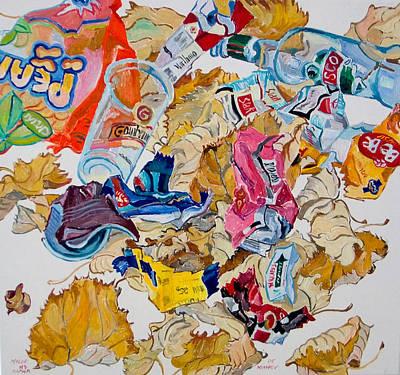 Leaves And Rubbish Art Print by Vitali Komarov
