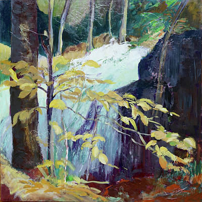 Painting - Leaves And Water by Jillian Goldberg