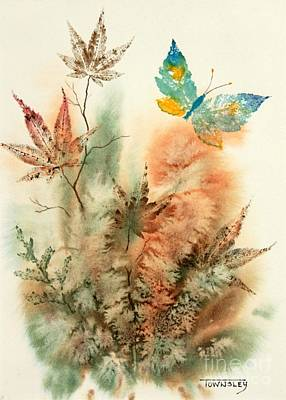 Painting - Leaves And Wings by Frank Townsley