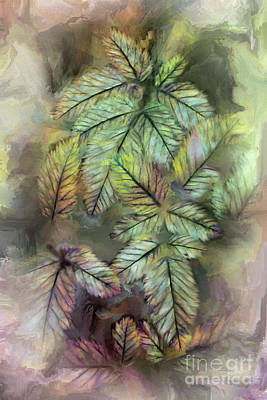 Digital Art - Leaves Ap Fx by Dan Carmichael