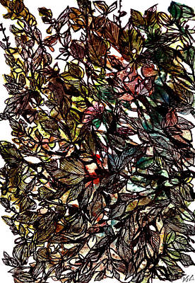 Painting - Leaves Hidden Everywhere by Garima Srivastava