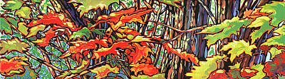 Leaves Long Art Print by Nadi Spencer