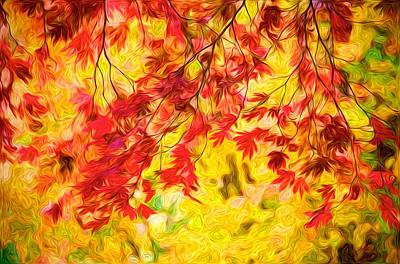 Digital Art - Leaves Of Autumn by Julius Reque