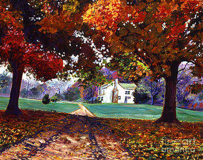 Falling Leaf Painting - Leaves Of Color by David Lloyd Glover