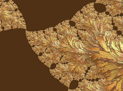 Digital Art - Leaves Of Gold by Susan Maxwell Schmidt