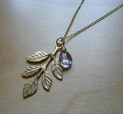 14k Jewelry - Leaves Of Grace by Karen Ericson