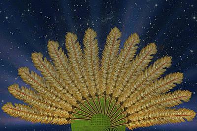 Digital Art - Leaves Of Grass by John Haldane