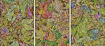 Trippy Digital Art - Leaves Of Sycamore Dreaming by Joel Bruce Wallach