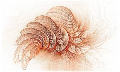 Leaves Of The Fractal Ether-2 Art Print