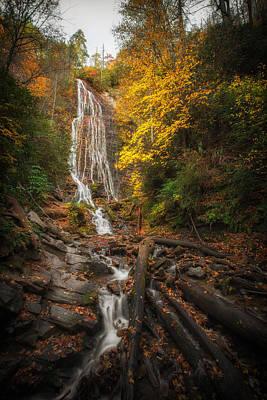 Fall Colors Photograph - leaves on Mingo by Jennifer Luzio