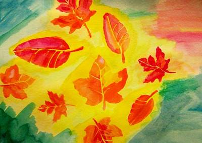 Impressionist Painting - Fall Leaves by Stephanie Zelaya