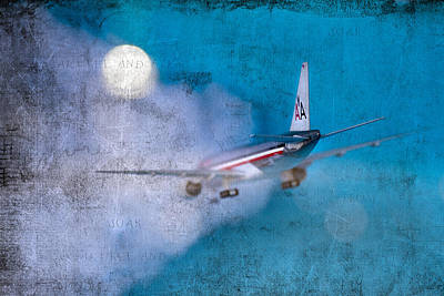 Leavin' On A Jet Plane Art Print by Rebecca Cozart