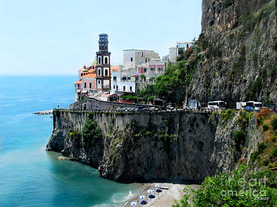 Leaving Atrani  Italy Art Print