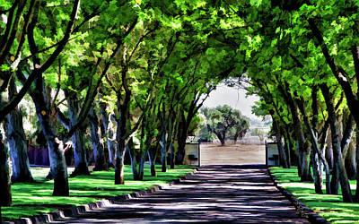 Winery Digital Art - Leaving Bridlewood by Patricia Stalter