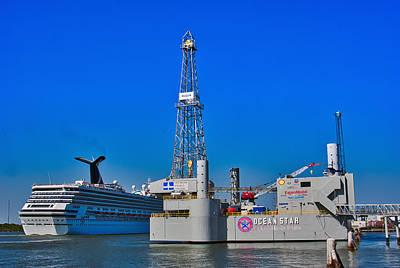 Photograph - Leaving Galveston by Robert Brown