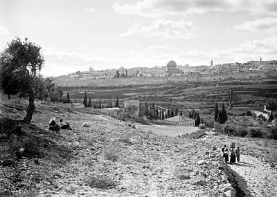 Photograph - Leaving Jerusalem 1934 by Munir Alawi