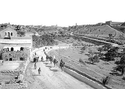 Photograph - Leaving Jerusalem by Munir Alawi