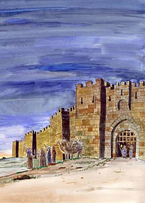Photograph - Leaving Jerusalem To Bethlehem by Munir Alawi