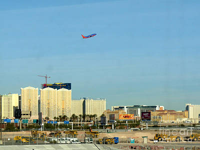 Airlines Photograph - Leaving Las Vegas by David Bearden