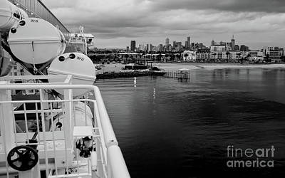 Photograph - Leaving Melbourne Bw by Tim Richards