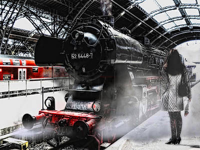 Steam Locomotive Photograph - Leaving Never Is Easy by Joachim G Pinkawa