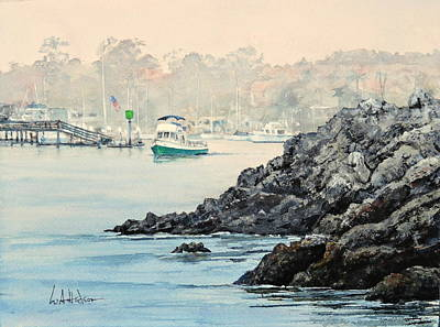 Painting - Leaving Port by Bill Hudson