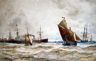Leaving Port Calais Art Print
