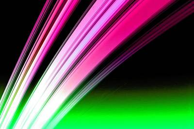 Painting - Leaving Saturn In Hot Pink And Green by Pet Serrano