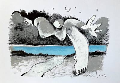Drawing - Leaving The Heavens  by Mark M Mellon