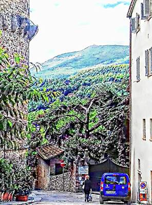 Tuscan Hills Digital Art - Leaving The Main Square Cetona Tuscany by Dorothy Berry-Lound