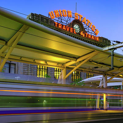 Photograph - Leaving Union Station - Denver Colorado - Square Format by Gregory Ballos