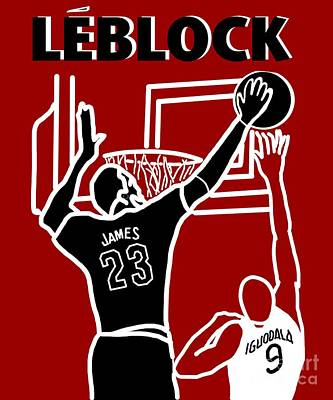 Lebron Drawing - Leblock by Robert Yaeger