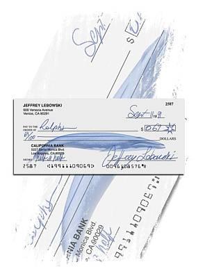 Lebowski's Check Art Print by Filippo B