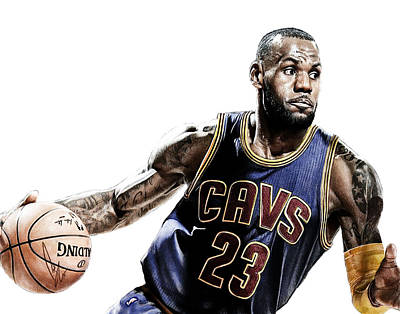 Athletes Digital Art - LeBron by Bobby Shaw