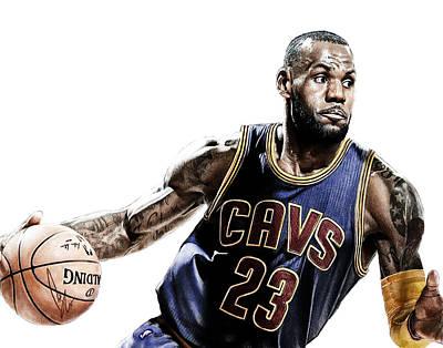 Athletes Digital Art - LeBron by Bobby Shaw