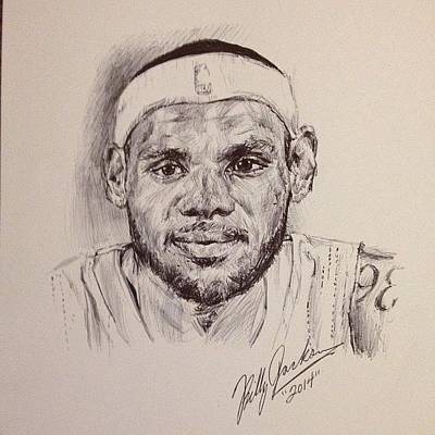 Lebron James Drawing - Lebron James by Billy Jackson