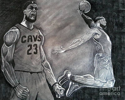 Lebron James Drawing - Lebron James by Christopher Turner
