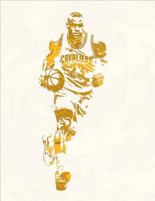 Lebron James Cleveland Cavaliers Pixel Art 11 Art Print
