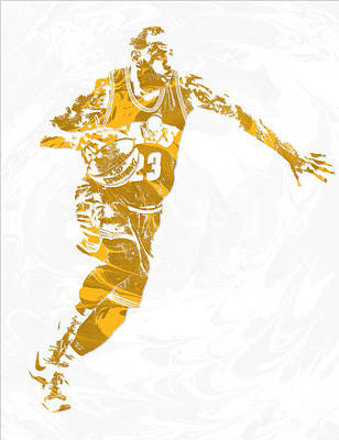Lebron James Cleveland Cavaliers Pixel Art 14 Art Print