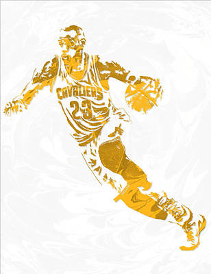 Lebron James Cleveland Cavaliers Pixel Art 15 Art Print