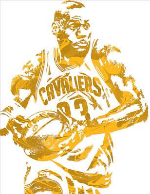 Lebron James Cleveland Cavaliers Pixel Art 6 Art Print