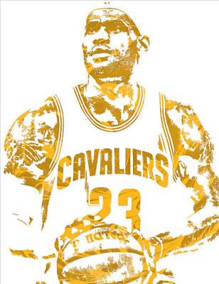 Lebron James Cleveland Cavaliers Pixel Art 8 Art Print