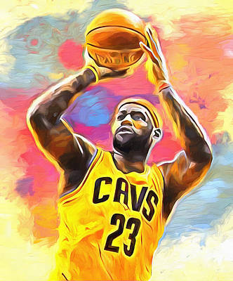 Athletes Royalty-Free and Rights-Managed Images - Lebron James by Dan Sproul