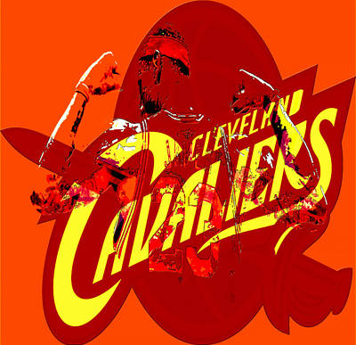 Lebron James In Cleveland Art Print by Brian Reaves