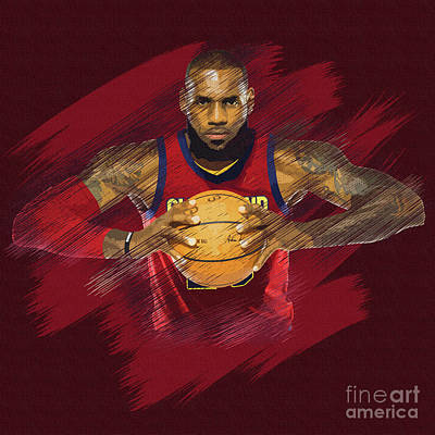 Mixed Media - Lebron James  by Jerome Obille