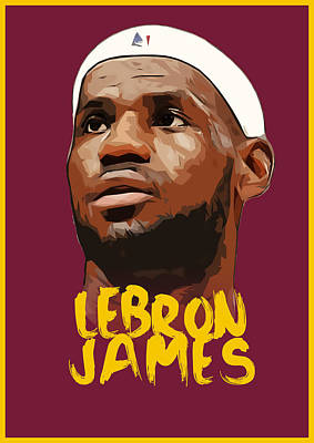 Lebron James King Art Print by Semih Yurdabak