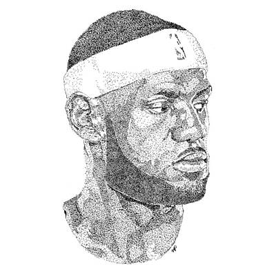 Lebron James Art Print by Marcus Price