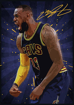 Lebron James Nba Art Print by Semih Yurdabak
